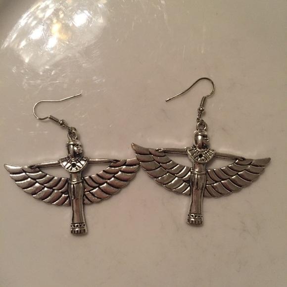 Ancient Egypt Goddess Isis Earrings
